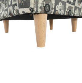 füles fotel puffal, szövet patchwork N1, ASTRID