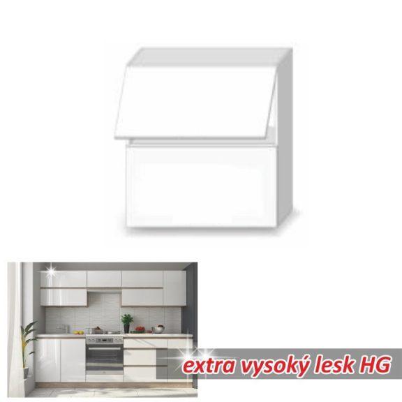 Felsőszekrény, fehér magas fényű HG, LINE BIELA G60