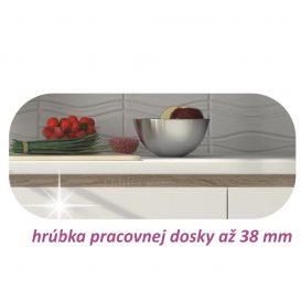 Alsószekrény három fiókkal D60, fehér magas fényű HG, LINE BIELA