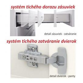 Felsőszekrény két ajtóval, tölgy sonoma, LINE G80 U