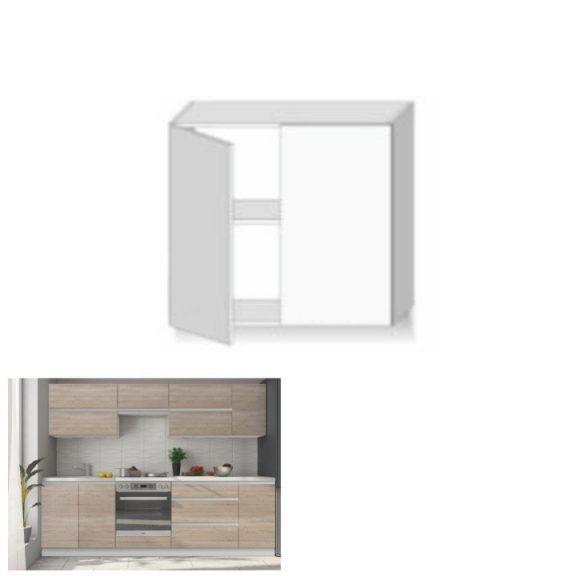 Felsőszekrény két ajtóval, tölgy sonoma, LINE G80