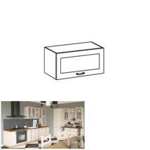 Felső, üveges szekrény,  fehér/északi fenyő, ROYAL G60KSN