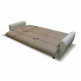 háromszemélyes kanapé, nyitható, barna Savana/minta, MILO