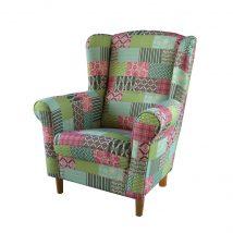Fotel, patchwork M1, CHARLOT