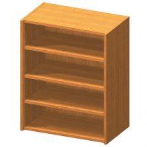 Alacsony polcos szekrény, cseresznye, TEMPO ASISTENT NEW 013