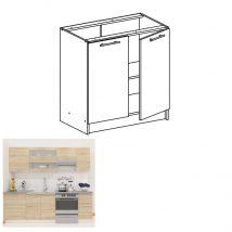 Alsó szekrény, sonoma tölgyfa/fehér, FABIANA S-80