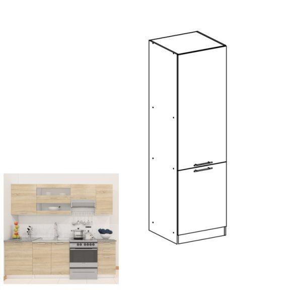 élelmiszer szekrény, tölgy sonoma/fehér, balos, FABIANA S - 60/210