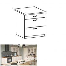 Alsó fiókos szekrény, fehér/északi fenyő, ROYAL D80S3