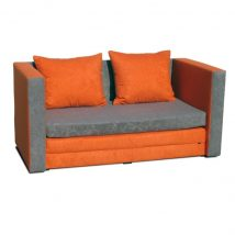 Kanapé ágyfunkcióval, narancs színű, KATARINA NEW