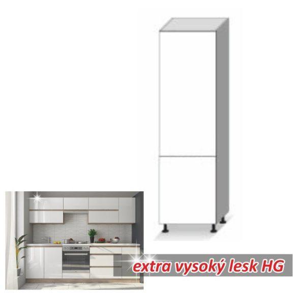 Magas élelmiszer szekrény, fehér magas fényű HG, LINE