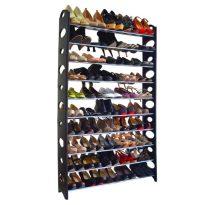 cipősszekrény, szürke/fekete, BOTIS TYP 4 VSDW05