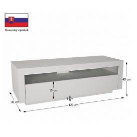 RTV asztal, fehér, AGNES