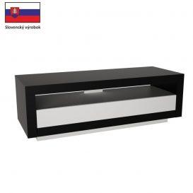 RTV asztal, fekete/fehér, AGNES