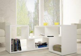 Multifunkciós könyvespolc, fehér, VARIO