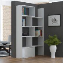 Modern könyvespolc, fehér/fehér, ASTA