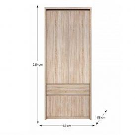 NORTY Gardrób 2 ajtós Sonoma tölgyfa