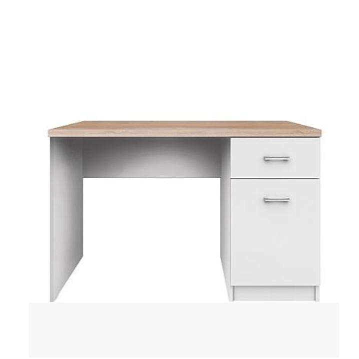 363802e1dbe4 PC asztal 1d1s, DTD laminált, fehér + sonoma tölgyfa, TOPTY - Butorpiac