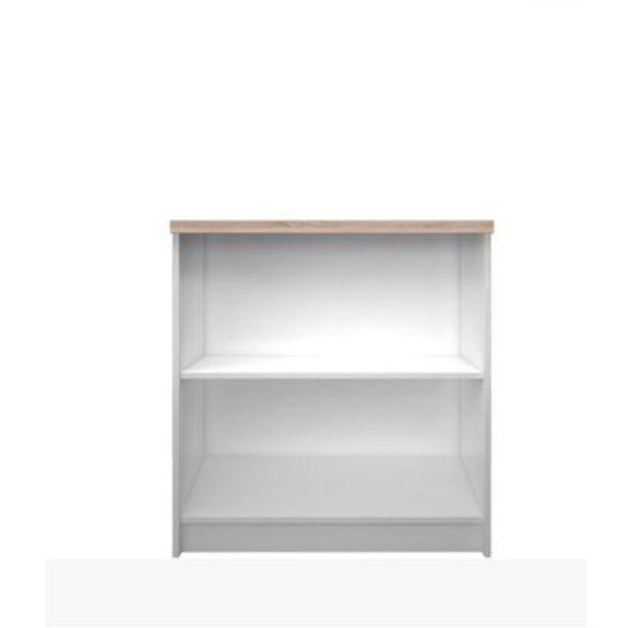 Alacsony könyvespolc, fehér/tölgy sonoma, TOPTY 16