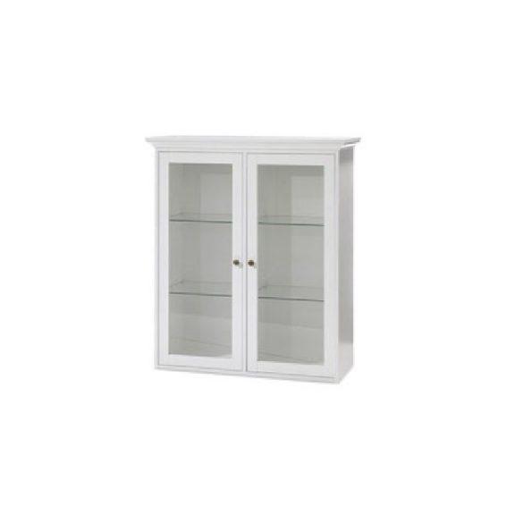 Fali szekrény, DTD fóliázott/MDF festett, fehér, PARIS