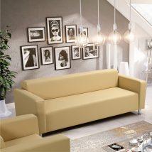 3-ülés, krémszínű textilbőr, HOMKER