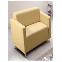 Fotel,  bézs színű textilbőr, HOMKER