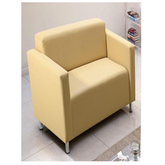 Fotel, textilbőr bézs, HOMKER