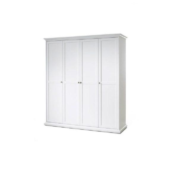 Szekrény, DTD fóliázott/MDF festett, fehér, PARIS 75354
