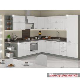 Alsó mosogatószekrény, fehér magasfényű, PRADO 80 ZL 2F BB