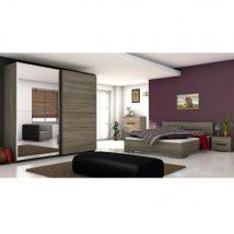 Modern hálószoba, sötét sonoma tölgyfa, BETINO