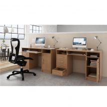 Számítógépasztal, bükkfa szín, B9 NEW