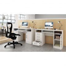 Számítógépasztal, fehér, B9 NEW
