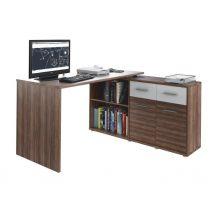 Számítógépasztal, szilva/fehér, RAFAEL NEW