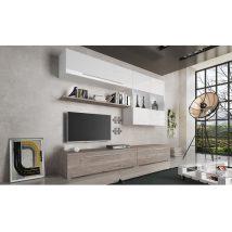 Nappali bútor, MDF/DTD laminált, tölgy nelson/fehér HG, SOFI