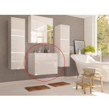 Mosdóalatti szekrény, fehér/fehér magas fényű MASON WH13