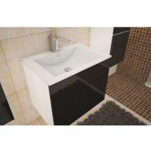 Mosdóalatti szekrény, fehér/fekete fényű HG, MASON BL 13