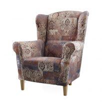 Fotel, szövet vintage barna 1026, charlot