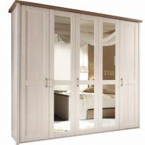 LUMERA Gardrób 5 ajtós Fehér/sonoma tölgy trufla