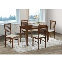 BRISBO Étkező szett : 1x asztal / 4x szék,