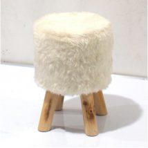 ALPIA  Puff fa lábakkal, fehér