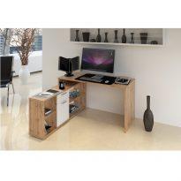 NOE Számítógépasztal Wotan tölgyfa/fehér