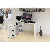 NOE Számítógépasztal fehér/beton