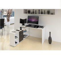 NOE Számítógépasztal fehér/fekete