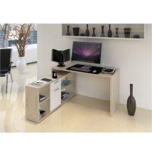 NOE Számítógépasztal San remo tölgyfa/fehér