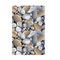 Szőnyeg, színes, minta kövek, 80x120, BESS - Kiárusítás