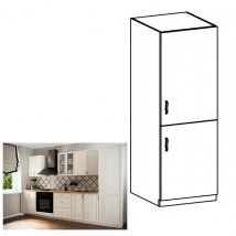 SICILIA D60ZL Konyhaszekrény beépített hűtőszekrényhez jobbos Északi fenyő