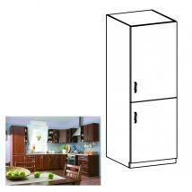 SICILIA D60ZL Beépített hűtőhöz való szekrény jobbos DIÓ