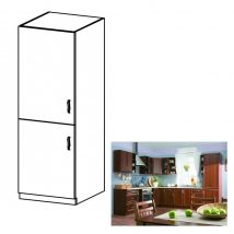SICILIA D60ZL Beépített hűtőhöz való szekrény balos DIÓ