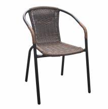 DOREN Egymásra rakható szék BARNA
