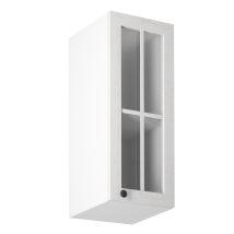 PROVANCE G30S jobbos felső szekrény üveges ajtóval, fenyő Andersen/fehér