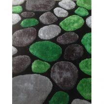 Szőnyeg, zöld/szürke/fekete, 80x150, PEBBLE TYP 1